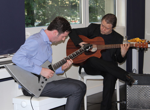 Guitar Student Ross with Master Instructor Stefan Joubert