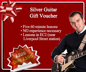 Silver Guitar Gift Voucher