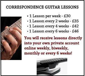 Correspondence guitar program