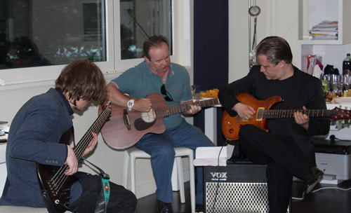 Guitar Students Laurence and Dan performing with Master Instructor Stefan Joubert