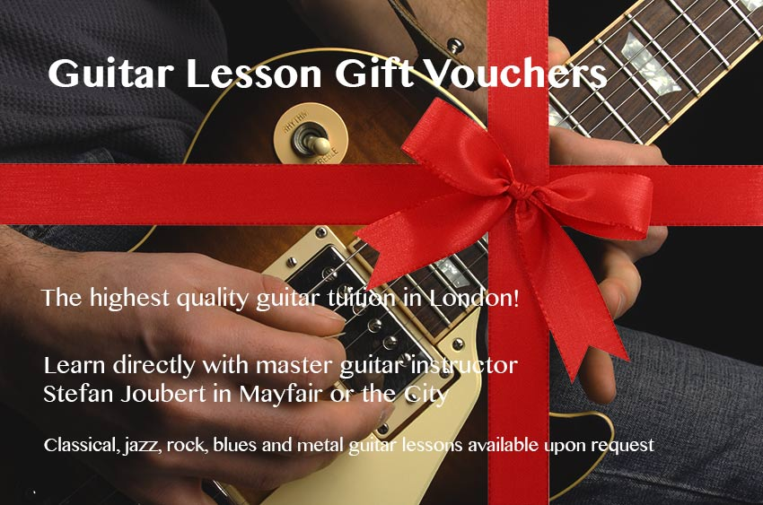 Guitar lesson gift vouchers