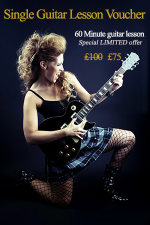 Single guitar lesson gift voucher
