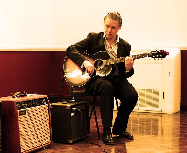 Stefan Joubert Playing the Guitar