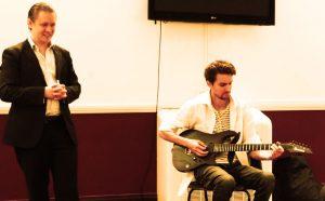 Stefan Joubert teaching guitar in London
