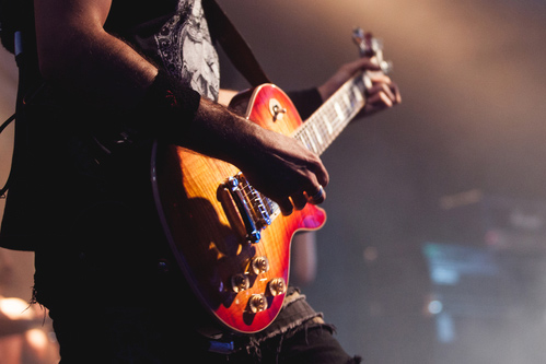 Guitarist Playing The Guitar