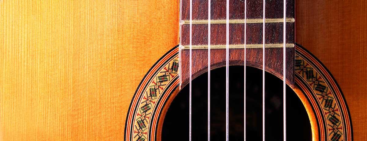 Flamenco guitar details