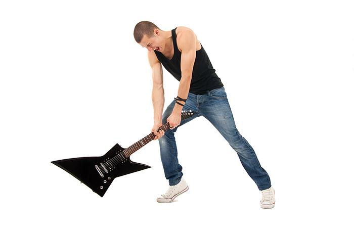 Frustrated guitarist