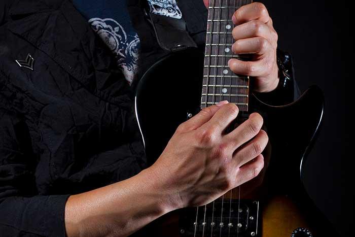 Guitarist improvising
