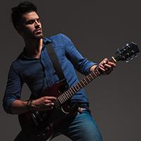 Intermediate electric guitarist