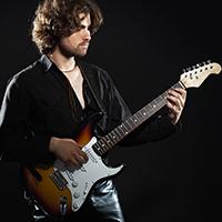 Intermediate metal guitarist