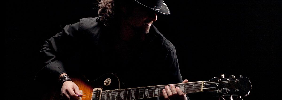 guitar man silhouette